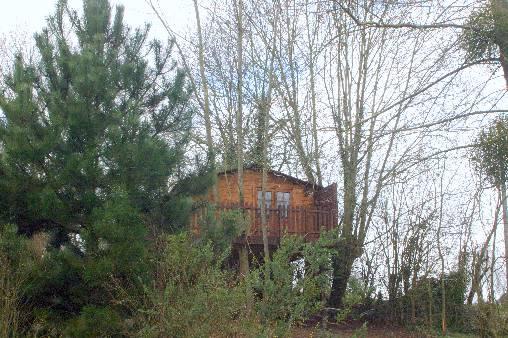 2 cabanes pour dormir dans les arbres