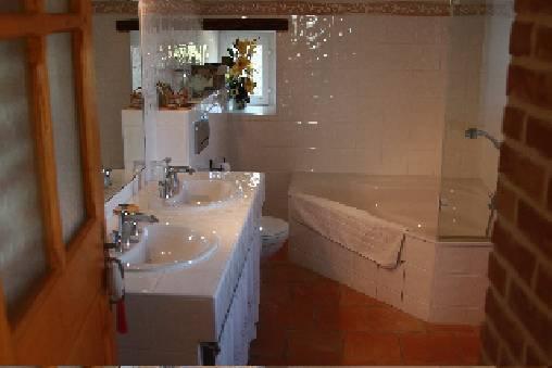 Chambre d'hote Gard - Salle de bain de la chambre Grand Pailler
