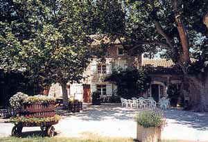 Chambre d'hote Vaucluse - La cour, plein sud, bien ombragée par les platanes