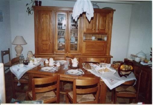 Chambre d'hote Maine-et-Loire - salle petits déjeuners